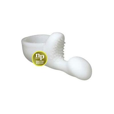 TPR医用绿色软胶迷你按摩棒专用配件,配合迷你按摩棒强劲震动力,有效刺激三点敏感位置,快感升天.