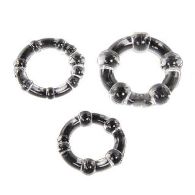 软胶材质弹性好,三种不同尺寸的套环供您选择,人性化设计,玩法多样