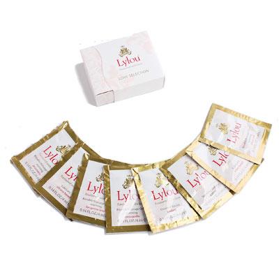 德国lylou 滋养礼盒8袋装32ml 果味按摩油4袋+滋养霜1袋+乳霜1袋+2袋润滑液
